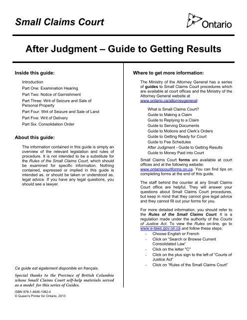 guide to small claims trial