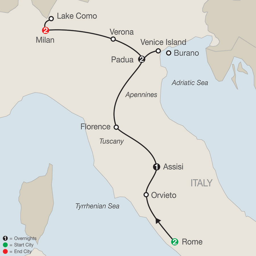 guided tour to italy including airfare