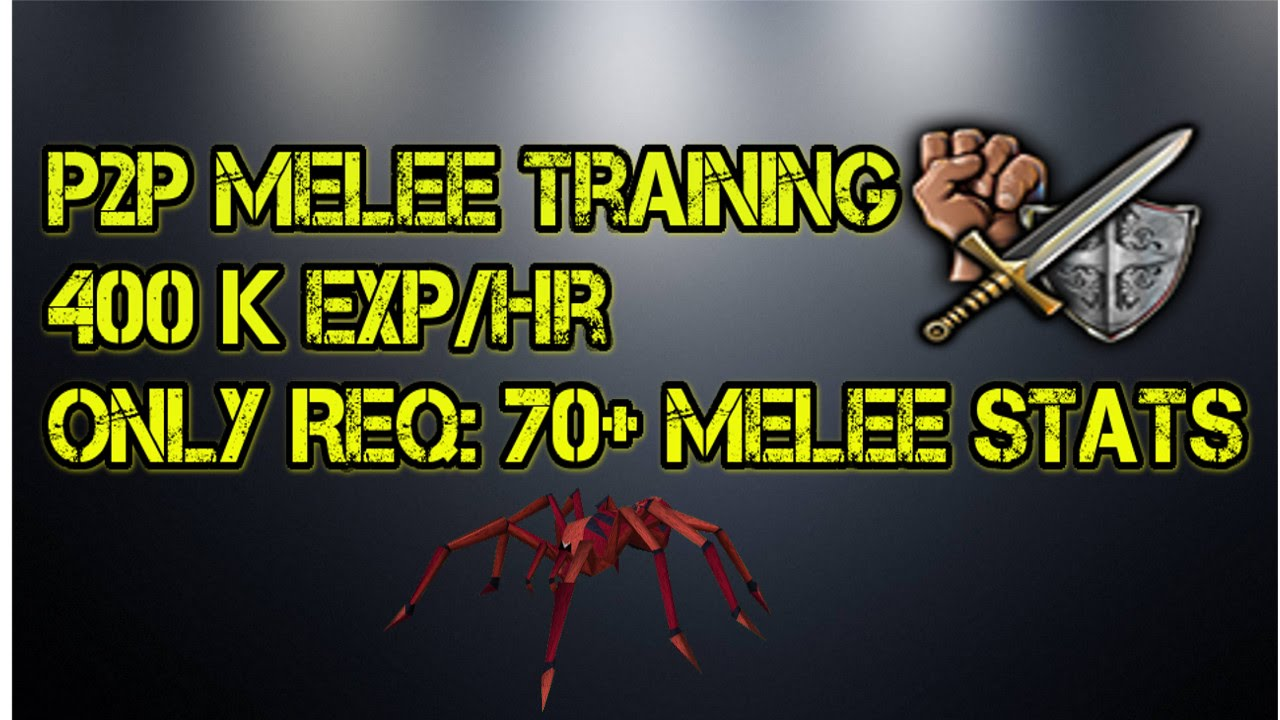 runescape p2p melee training guide